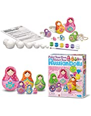 4M Paint Your Own Trinket Box Russian Dolls For Girls