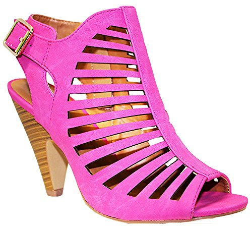 Pink Heels Shoes (My Delicious Shoes Women's Shaky Synthetic Dress MVE Shoes , MVE Shoes shaky hpnk size)