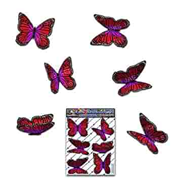 ST00028RD/_SML Red Wanderer Butterfly Small Animal Pack Car Stickers Decals JAS Stickers