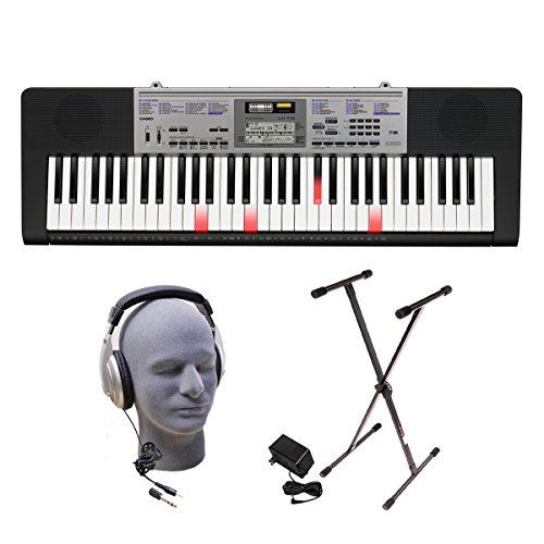 Casio LK-175 PPK 61-Key Premium Lighted Keyboard Pack with Stand, Headphones & Power Supply by Casio