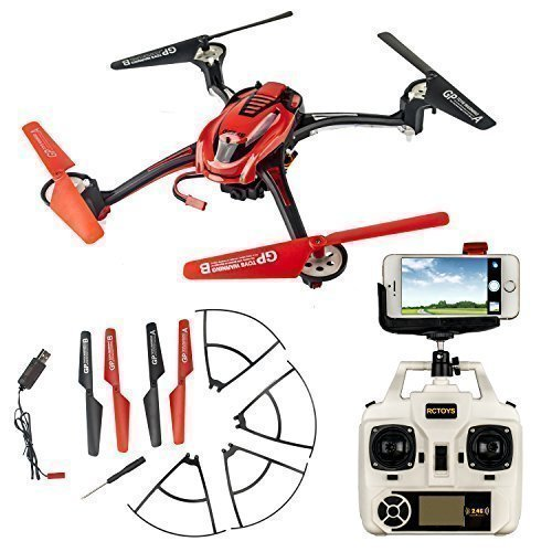 ToyJoy F1C Wifi Real Time Video Quadcopter RC Headless Drone Explorers For 3D Flip With HD Camera Transmitter Mobile Phone Holder