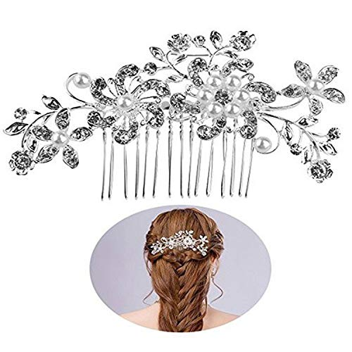 lwb AliExpress Explosion Hair Accessories Rhinestone Comb Comb Amazon Bridal Flower Butterfly Hair Comb Foreign Trade Headwear Supply