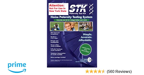 a00e0ece513 Amazon.com  STK s Paternity Test Kit - INCLUDES ALL LAB FEES and FREE  Return Mailer for 99.999% accurate 2-person testing  Health   Personal Care