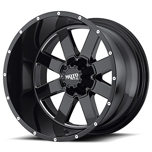 Moto Metal MO962 17×10 Black Wheel / Rim 8×6.5 with a -24mm Offset and a 125.50 Hub Bore. Partnumber MO96271080324N