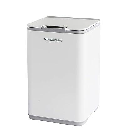 Ninestars 10L Cubo de Basura Sensor de Movimiento infrarrojo sin Contacto automático,23.5 x 23.5