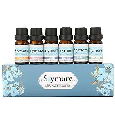 Skymore Top 6 Essential Oil Blend Gift Set, 100% Pure Aromatherapy Oils for Diffuser, Best Therapeutic Grade Essential Oil Kit - 6/10ml ( Sleep, Breathe, Relief, Refresh, Immunity, Happy )