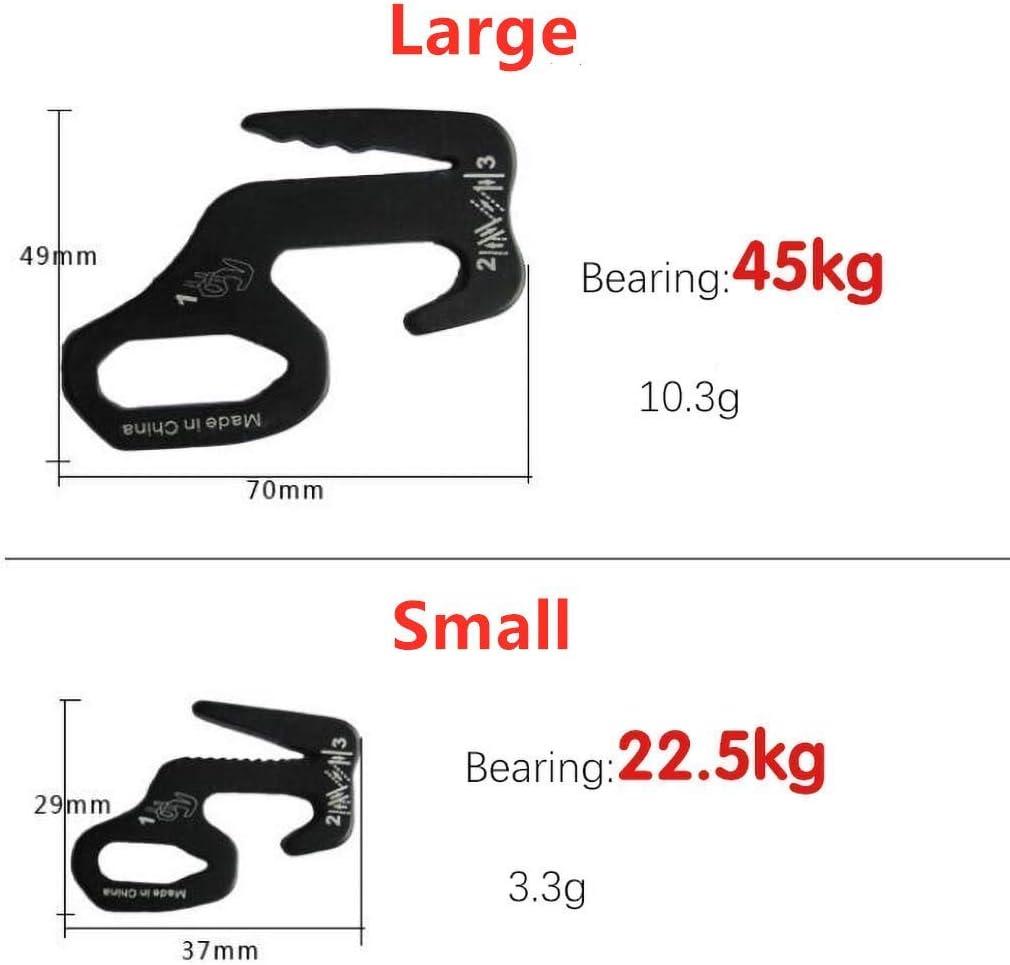 4 St/ück Aluminiumlegierung 9-f/örmiges Gep/äck Gep/äckhaken Pack Seilspanner Anti-Rutsch-Schnalle f/ür Outdoor-Klettern Wandern Camping Hozora Seilspannmechanismus Mit Karabinerhaken