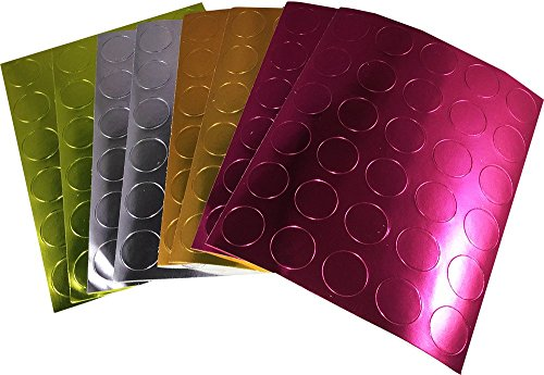 Color Coding Labels Metallic Bulk Pack Round Circle Dots for Office Teacher Supplies 1/2 Inch 8 Sheets 20 Labels 160 Total Adhesive Stickers