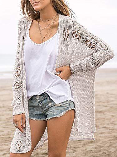 Misassy Womens Summer Boho Button Down Knit Sheer Cardigans