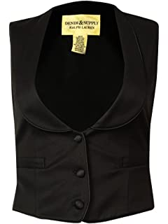 RALPH LAUREN Denim \u0026 Supply Women\u0027s Shawl Three-Button Vest