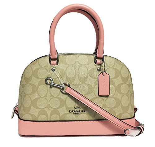 Coach Shoulder Inclined khaki Sierra Satchel Purse Handbag Women��s Shoulder Mini rxnqr4w