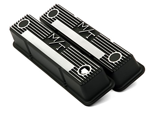 Holley 241-83 M/T Black Krinkle Valve Cover for SB Chevy