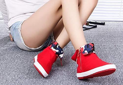 Fitness Sportive Da Tela Help Cerniera Donna Ysfu Canestro High Leggero Scarpe Sneaker Traspirante Casual Di Outdoor Signore Sneakers Solido Ammortizzante awwpqAE0