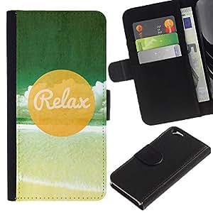 All Phone Most Case / Oferta Especial Cáscara Funda de cuero Monedero Cubierta de proteccion Caso / Wallet Case for Apple Iphone 6 // Relax Beach