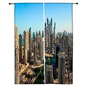 Snoogg bâtiments de Dubaï Polyester Drapes Rideaux occultants 76,2 ...