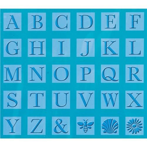 Cricut Cuttlebug Tools - All-in-One Monogram Serif Embossing Plates 2000290