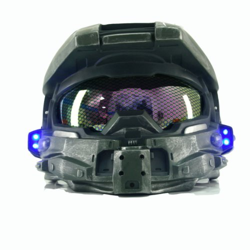 Halloween Scary Masks Helmet Props for Fancy Dress Costume Master Chief Helmet V1 (Halo Master Chief Kids Costume)