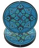 Le Souk Ceramique Dinner Plates, Set of 4, Sabrine Design