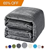 Image of Balichun Luxury 330 GSM Fleece Blanket Super Soft Warm Fuzzy Lightweight Bed or Couch Blanket Twin/Queen/King Size(Queen,Grey)