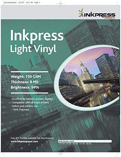 INKPRESS MEDIA LV42100,150GSM,8MIL, 99 Percent Bright, Ph...