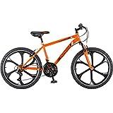 21-speed Shimano Rear Derailleur 24'' Mens Mack Mag Wheel Bike, Orange