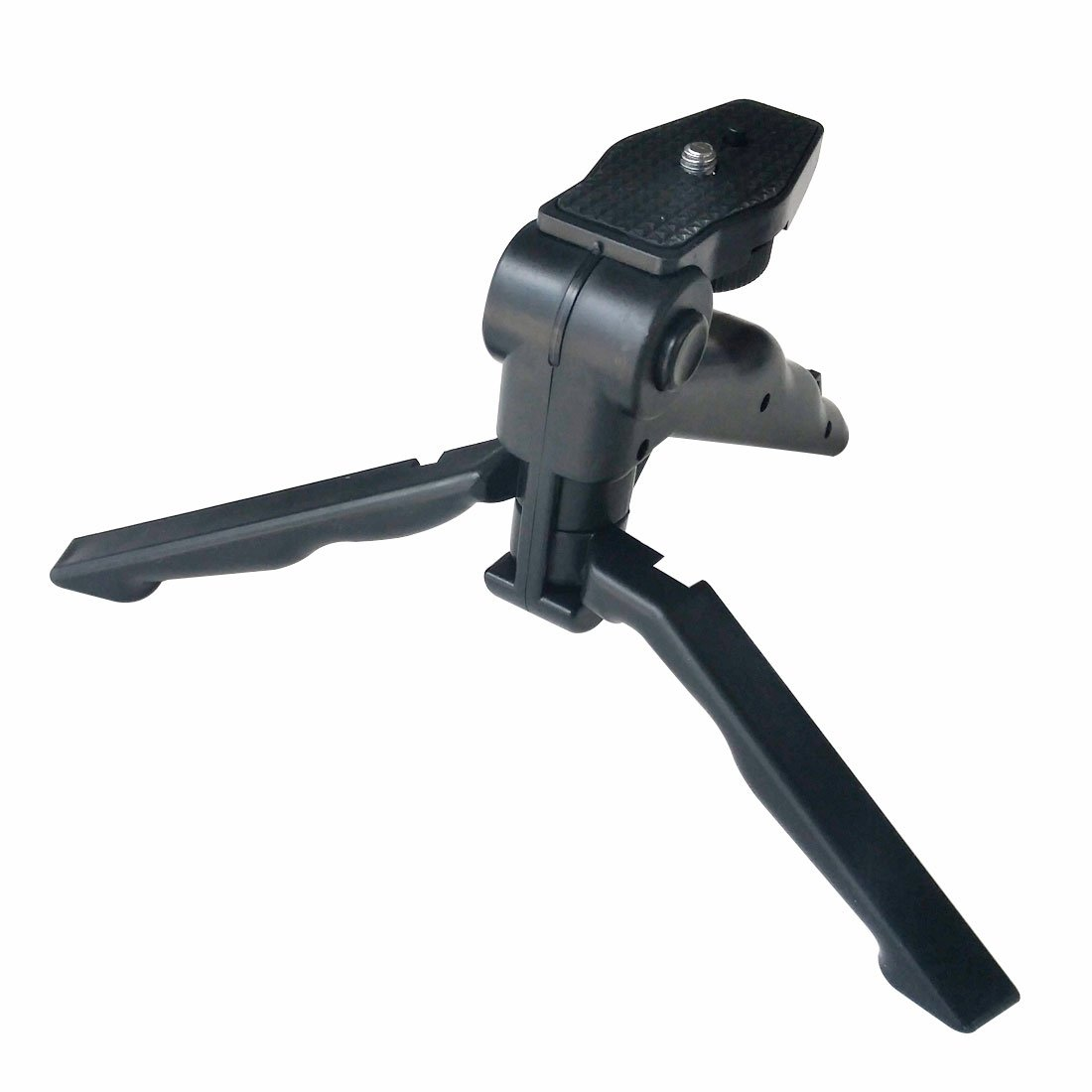 Mini Tripod Tabletop Stand w/ Soft Pistol Grip for DSLR, Smartphones, Audio Recorder and Video Cameras
