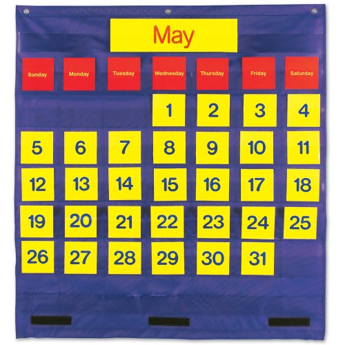 Learning Resources Bilingual Monthly Calendar Pocket Chart (Monthly Pocket Chart)