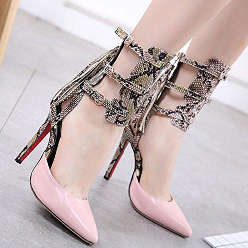 Sandali gladiatore da donna Sandali piatti con sandalo aperto in punta di serpente oYreWm