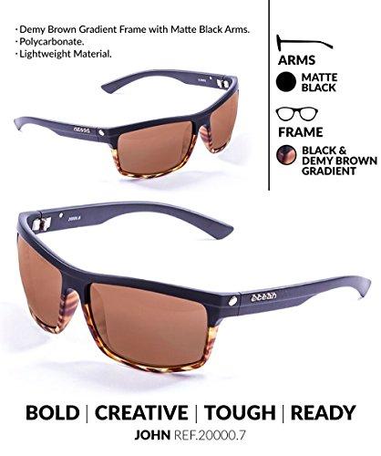 Sunglasses Marrón Negro Unisex Sol Ocean Negro John de única Gafas Negro mate Carey Talla y Color UTqdvZ
