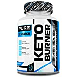 Keto Burner Weight Loss Pills for Women and Men, Burn More Calories & Block Carbs, Increase Your Energy, All Natural, 60 Veggie Caps by Pure Research For Sale