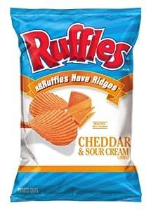Amazon.com : Ruffles Potato Chips, Cheddar and Sour Cream, 8.5 ...