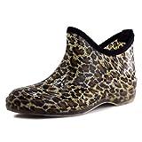 Womens Outdoor Rain Gardening Shoes Boots in Fashion Print, Womens, Leopard/Black, 11 M US Womens