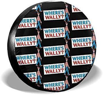 タイヤカバー 防水 防紫外線 タイヤバッグ タイヤ保管 タイヤ収納袋 Where'S Wally ウォーリーを探せ 持ち運び楽 カー用品 汚れ対応 防日焼け 14in 15in 16in 17in 屋外 Uvカッド 汚れ対応 防塵 プリント おしゃれ