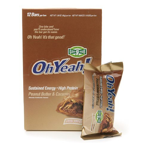 ISS Oh Yeah! Good Grab Bars, Peanut Butter & Caramel, 12 pk 1.59 oz (45 g)(pack of4) by ISS OhYeah!