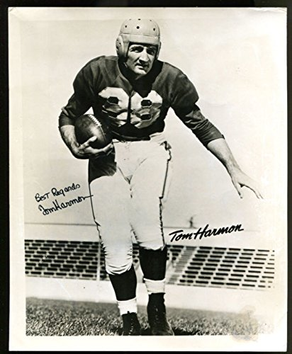 Tom Harmon Signed Photo 8x10 Autographed Michigan Heisman JSA Y37721 -