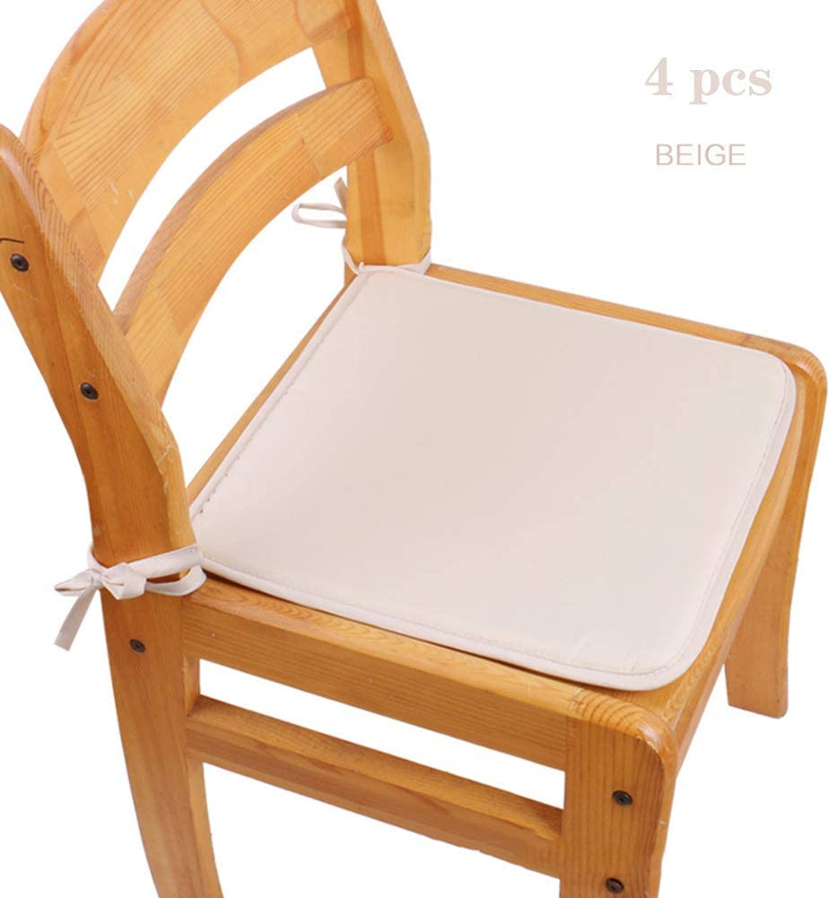 Amazon Co Jp Set Of 4 Chair Pads For Dining Room Chairs Home Square Square Chair And Seat Cushions With Ties For Comfort Non Skid Seat Cushion J 15 7 X 15 7 Inches 40 X