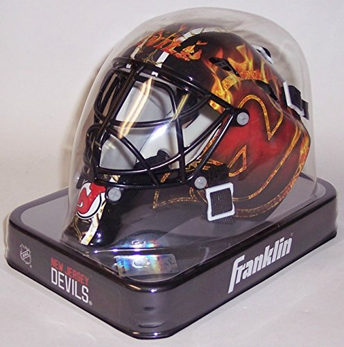 NJ New Jersey Devils Franklin Sports NHL Mini Goalie Mask - New in Box
