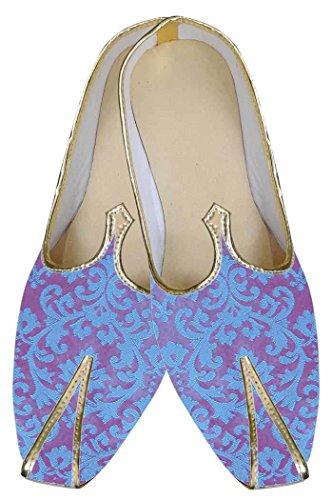 Inmonarch Zapatos De Boda Para Novio Azul Mj0110