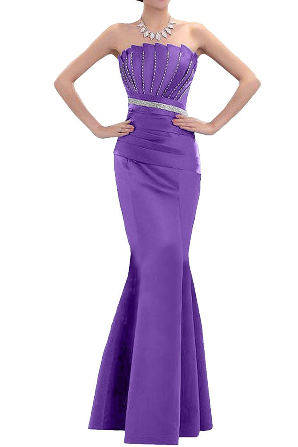 Gorgeous Bride Long Exquisite Satin Party Evening Gown Formal Occasion