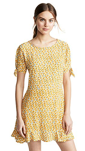 Faithfull The Brand Women's Daphne Dress, Marguerite Floral, Large