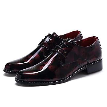 HhGold Zapatos Mocasines para Hombres, Zapatos Holgados con diseño de Camuflaje y tacón Plano para