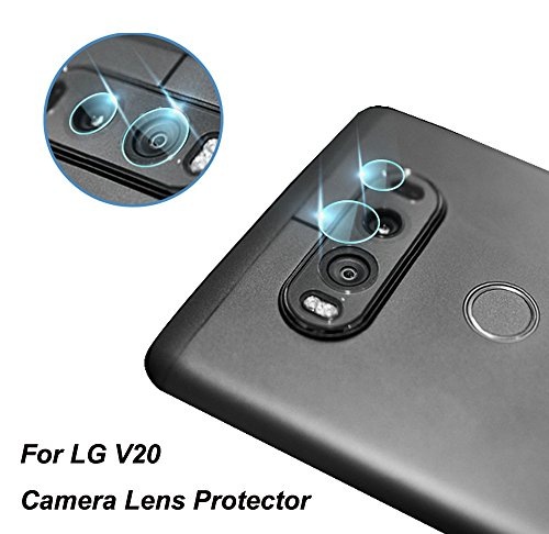 Genko-2 Packs High Definition Ultra Thin Transparent Clear Camera Protector Lens Tempered Glass For LG V20 F800L H910 H915 H990 LS997 US996 VS995 Glass Lens Cover ()