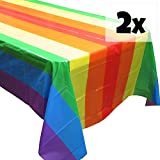 Blue Orchards Rainbow Party Tablecovers (2), Rainbow Birthdays, Rainbow Party Supplies and Decorations