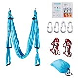 Zenlink Aerial Yoga Swing Trapeze Yoga Aerial Hammock Yoga Inversion/Sling, for Antigravity Flying Yoga Inversion Fitness Training, Including 2 Extensions Straps