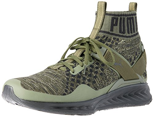 Puma Antænde Evoknit Herre Sneaker Grøn | Khaki JaOGrCI