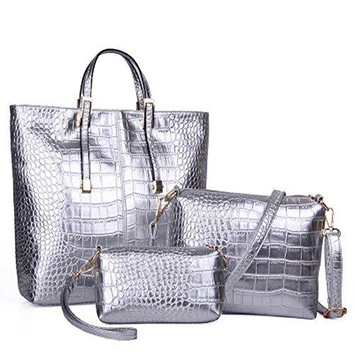 Aoligei Crocodile modèle paquet trois de la version coréenne de mode sac féminin C
