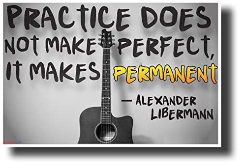 """Practice Does Not Make Perfect..."" - Alexander Libermann - NEW Motivational Music Classroom Poster"