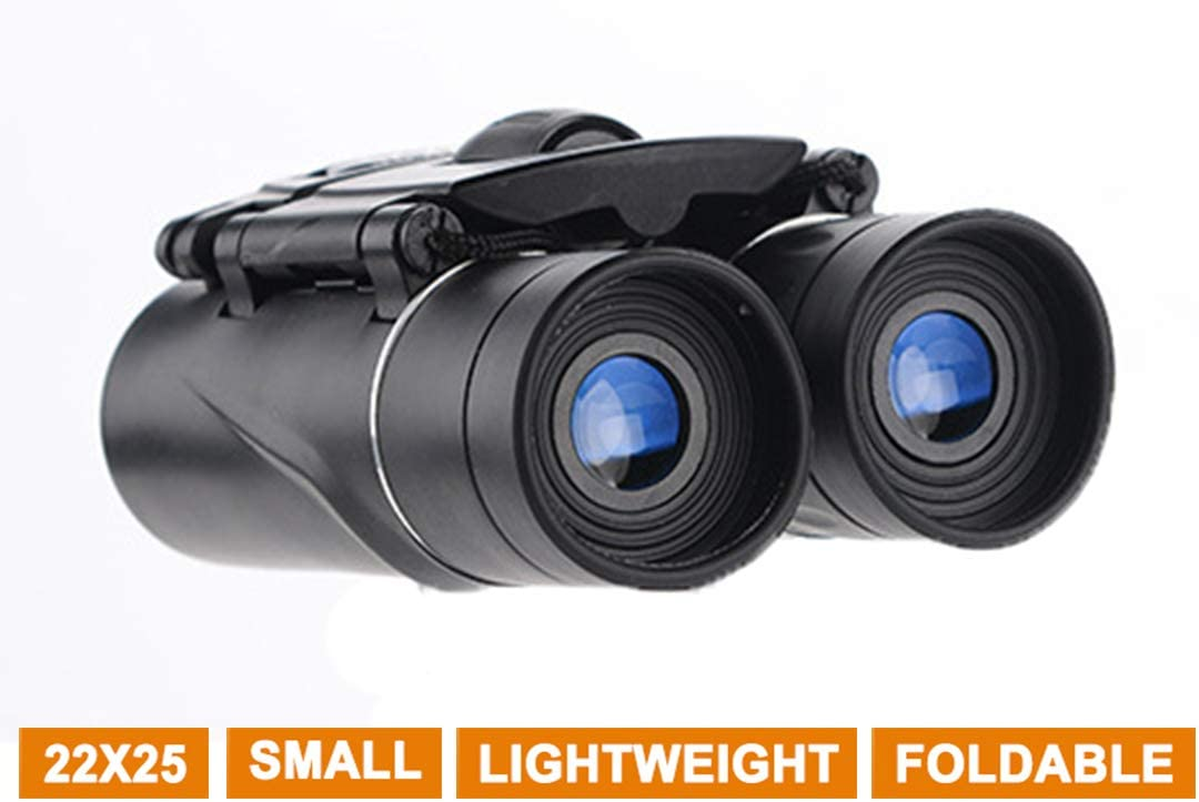 22×25 Small Binoculars Telescope Lightweight for Concert Theater Opera Mini Pocket Folding Binoculars with Fully Coated Lens for Bird Watching Hiking Hunting.