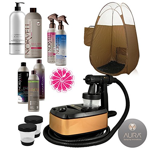 nning Machine System with Norvell Airbrush Tan Solution Sunless Pro Kit Bundle and Bronze Pop Up Tent ()