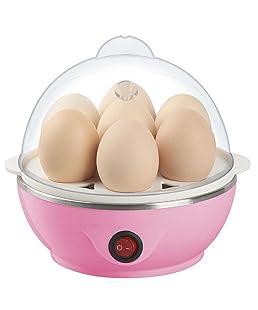 jannat enterprise Plastic and Steel Electric Egg Boiler Poacher - Compact, Size(16x16x16 cm.) (12345, Multi-Colour)